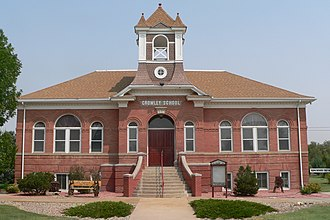 Crowley School - Image: Crowley County Heritage Center from S 1