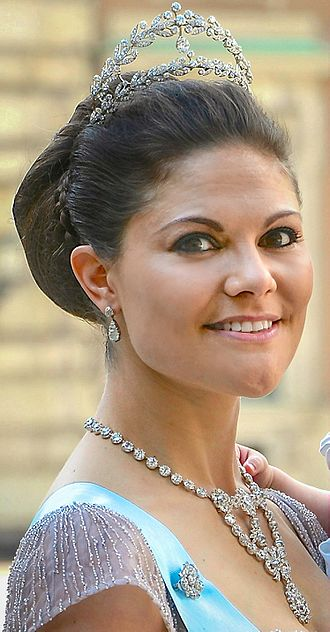 Victoria, Crown Princess of Sweden - Image: Crown Princess Victoria June 8, 2013 (cropped)