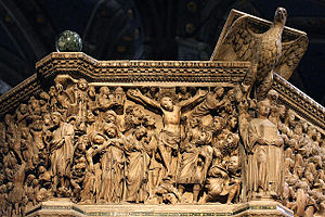 Siena Cathedral Pulpit - Crucifixion panel from the Siena Pulpit