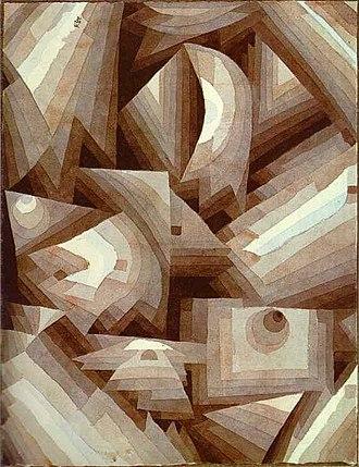 Gradation (art) - Crystal Gradation by Paul Klee, watercolour, 1921.
