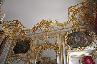Palais Rohan, Strasbourg - Gilded stucco in the Bedchamber of the King