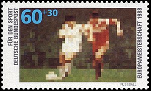 UEFA Euro 1988 - Special stamp issued by Deutsche Bundespost for the tournament