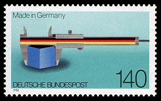 Made in Germany - Made in Germany, West German postage stamp of 1988