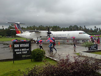 Labo Airport - DHC-8-400 of Philippine Airlines at Ozamiz Airport