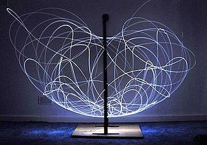 Double pendulum - Long exposure of double pendulum exhibiting chaotic motion (tracked with an LED)
