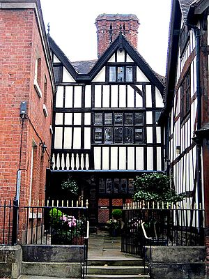Shrewsbury Drapers Company - Drapers Hall, Shrewsbury, now a boutique hotel