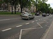 Daewoo-FSO Polonez Atu Plus on Zygmunta Krasińskiego avenue in Kraków (1).jpg