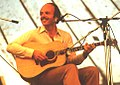 Dan Crary (bluegrass guitarist) 1981 Cambridge Folk Festival, UK (photograph by Tony Rees).jpg