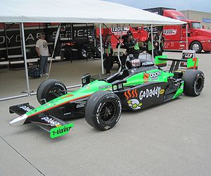 Danica Patrick's car at the Indianapolis Motor...