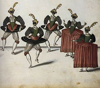 History of ballet - The Royal Ballet of the Dowager of Bilbao's Grand Ball, 1626.