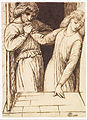 Dante Gabriel Rossetti - Hamlet and Ophelia - Compositional Study - Google Art Project.jpg