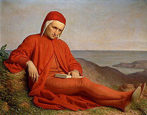 Dante in exile, painting by anonymous author