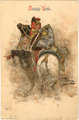 Daring polyanitsa by Repin on a postcard.png