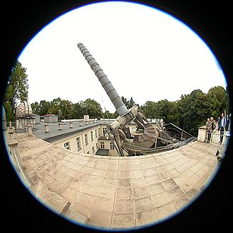 Archenhold Observatory - The telescope among the buildings.