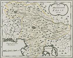 1791 mapo de Carniola