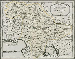 Carniola - Image: Das Herzogthum Krain 1791
