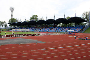 Daugava Stadium (Liepāja) - Daugava Stadium main stands