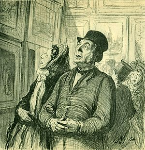 Surprise (emotion) - Sunday at the Museum, Honoré Daumier