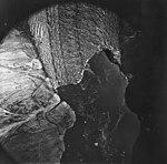 Dawes Glacier, terminus of tidewater glacier with icebergs in water, August 21, 1979 (GLACIERS 5404).jpg
