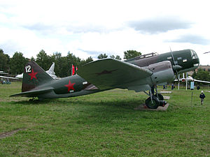 Ilyushin DB-3 - A DB-3M at the Central Air Force Museum near Moscow, Russia.