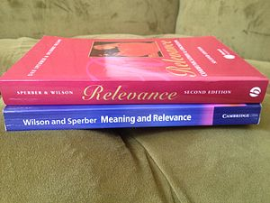 Deirdre Wilson - Wilson's books: Relevance: Communication and Cognition and Meaning and Relevance