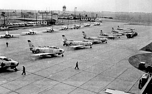 Delaware Air National Guard - 142d Fighter-Bomber Squadron F-86A Sabres, New Castle County Airport, 1954