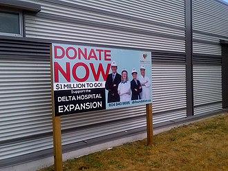 Delta Hospital - Image: Delta Foundation Signage