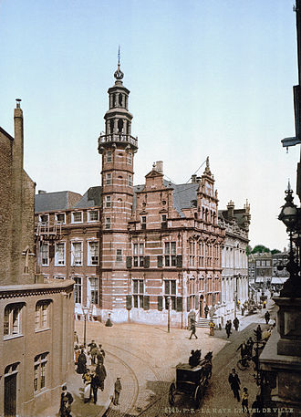 The Hague - The Old City Hall of The Hague around 1900