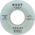 Denise by Randy and the Rainbows US vinyl Side A blue label.png