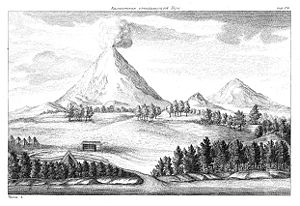 "Stepan Krasheninnikov - ""Volcanoes on Kamtchatka. From: Описание земли Камчатки, St Petersburg 1755."""