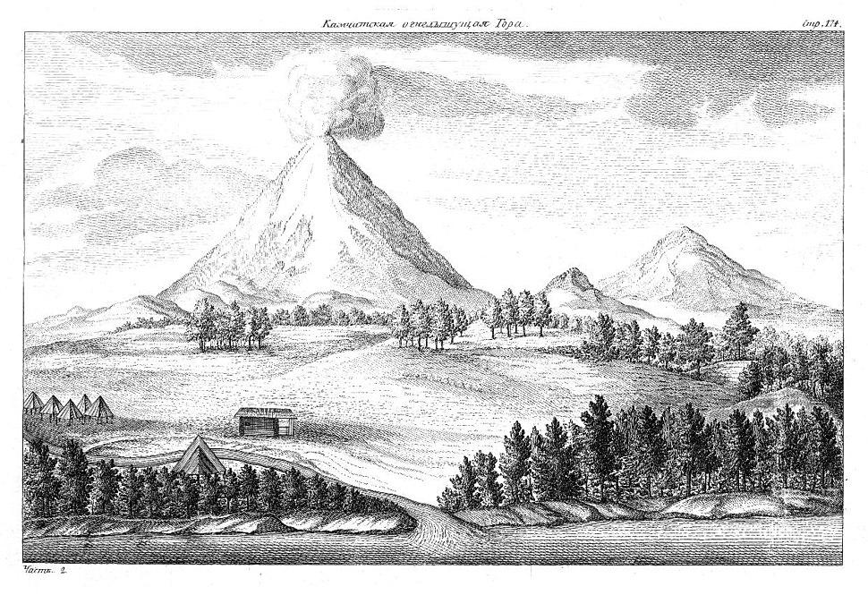 Der Berg Kamtschatka (aus Krascheninnikow, Opisanie Zemli Kamcatki)