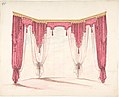 Design for Red Curtains with Red Fringes and a Gold Pediment MET DP807415.jpg