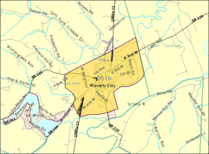 Waverly, Ohio - Image: Detailed map of Waverly, Ohio