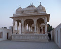Devi Kund Sagar and Cenotaphs-1 ,Bikaner.JPG