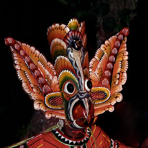 English: Gurulu Raksha Mask , Sri Lanka Polski...