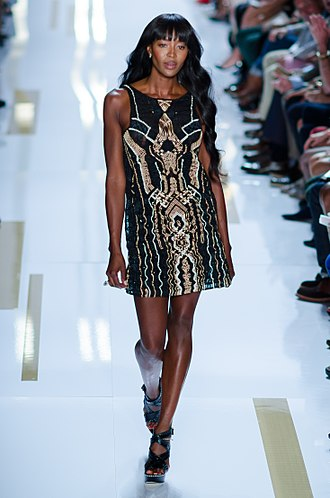 Naomi Campbell - Walking the runway at the Diane von Fürstenberg Spring/Summer 2014 show at New York Fashion Week, September 2013