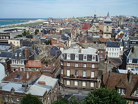 A view of the centre of Dieppe