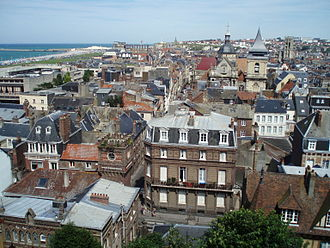 Dieppe - A view of the centre of Dieppe