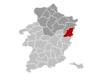 Dilsen-Stokkem - Image: Dilsen Stokkem Limburg Belgium Map