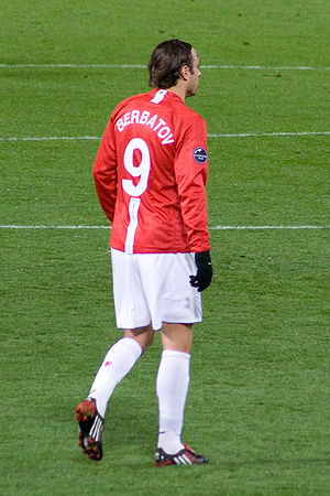 Dimitar Berbatov - Berbatov playing for Manchester United in October 2008, during a Champions League match against Celtic