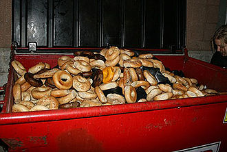 Food waste - Discarded bagels