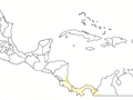 Distribution of the Gold arrow-poison frog.png