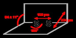 Disulfur dibromide - Image: Disulfur dibromide 2D dimensions
