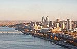Вид на Дніпро з готелю «Парус»