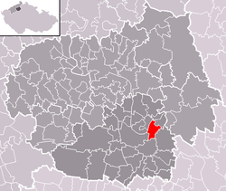 Location of Dobříň