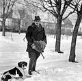 Dog, winter, snow, hunter Fortepan 2744.jpg