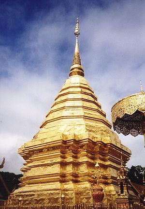 Chedi de Doi Suthep, a las afueras de Chiang Mai