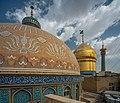 Dome of Fatima Masumeh Shrine, Qom, Iran.jpg