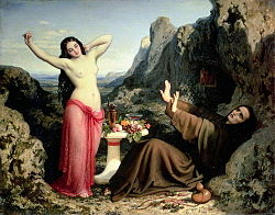 Dominique Papety: Temptation of Saint Hilarion