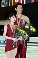 Dong Huibo & Wu Yiming Podium 2008 Junior Worlds.jpg